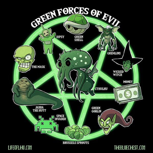 Life of Lhu Cthulhu comic strips online the Blue Chest green forces of evil