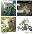 Life of Lhu Cthulhu comic strips online the Blue Chest Smurflhu Smurfs cultists